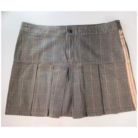 Pelle Pelle Dresses & Skirts - Pelle Pelle Pleated Skirt Sz 16 Plaid Brown Pink